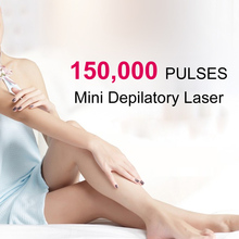 Mini HPL Electric Laser Hair Epilator Depilador Permanent Hair Removal Device Laser Machine Home 150000 Light Pulses Lamp women