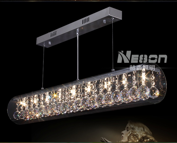 Modern Long Crystal Ceiling Light Fixture Glass Ceiling