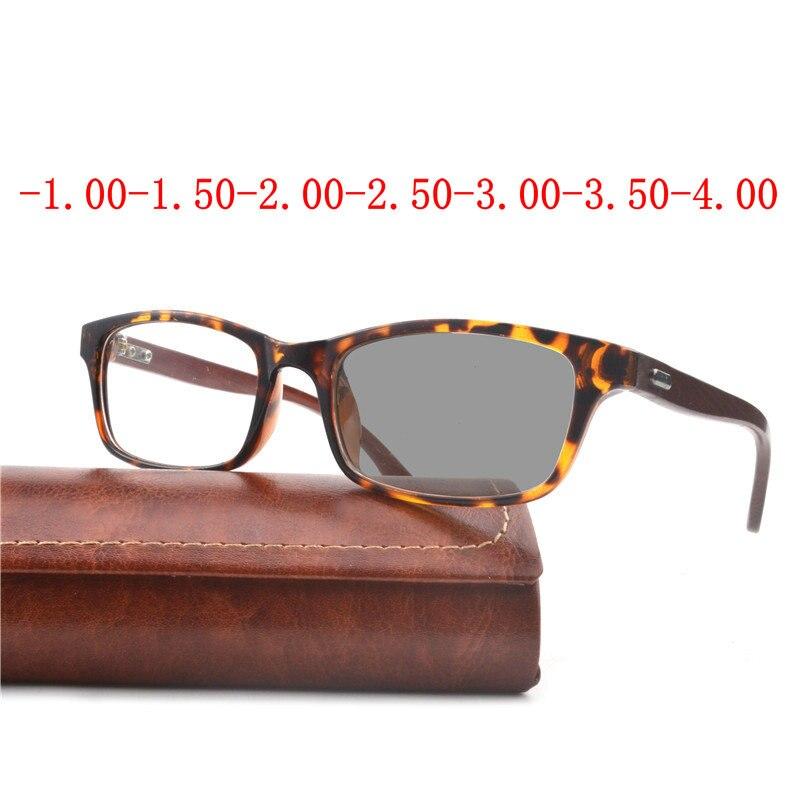 New Sun Photochromic Myopia Eyeglasses Optical Men student Finished Myopia Eyewear prescription Glasses Frame Half Rim  FML