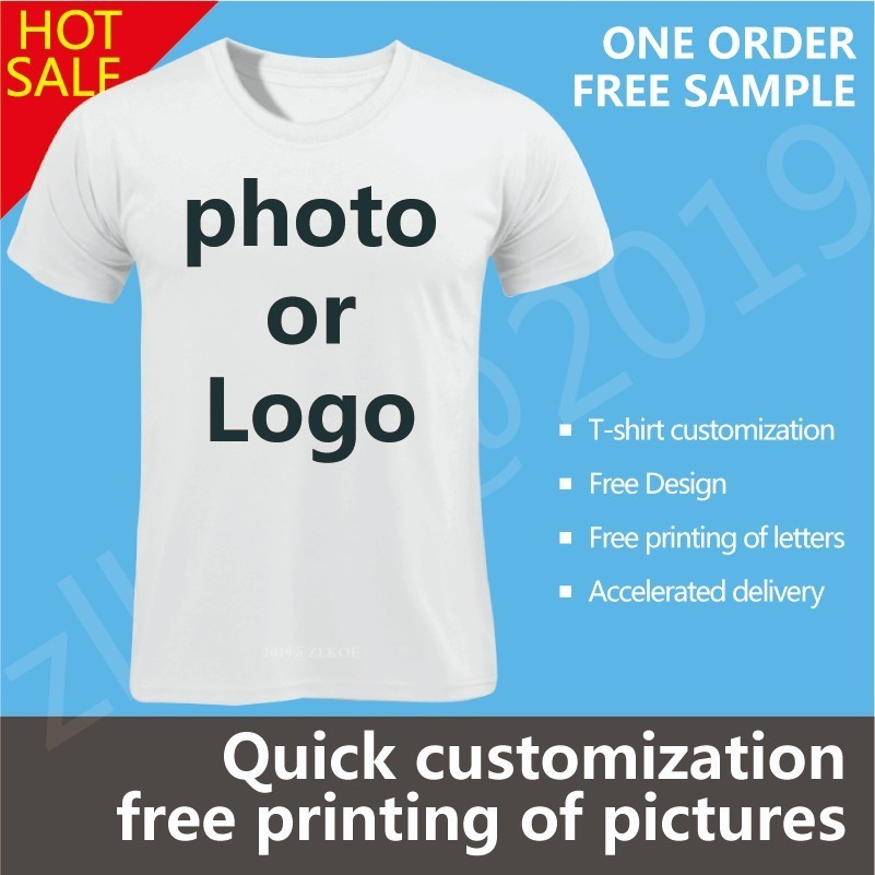 Customized T Shirt Women Female Print Your Own Design High Quality Send Out In 3 Days White Color And Men Customized T-shirts