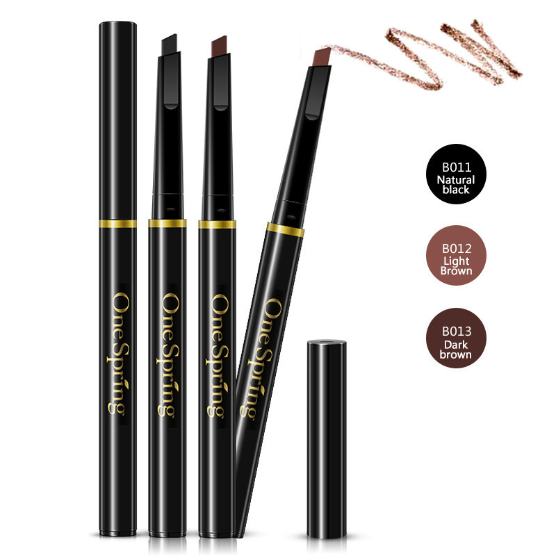 One Spring Natural Waterproof Eyebrow Pencil Long Lasting Easy to Wear Eye brow Makeup Cosmetic Women Beauty Essential