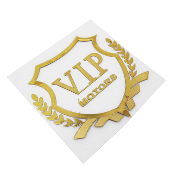 VIP Emblem Window Stickers Car-styling Body Tail Trunk Plastic Decal Auto Decoration for Volkswagen Golf Toyota Corolla BMW E36 image