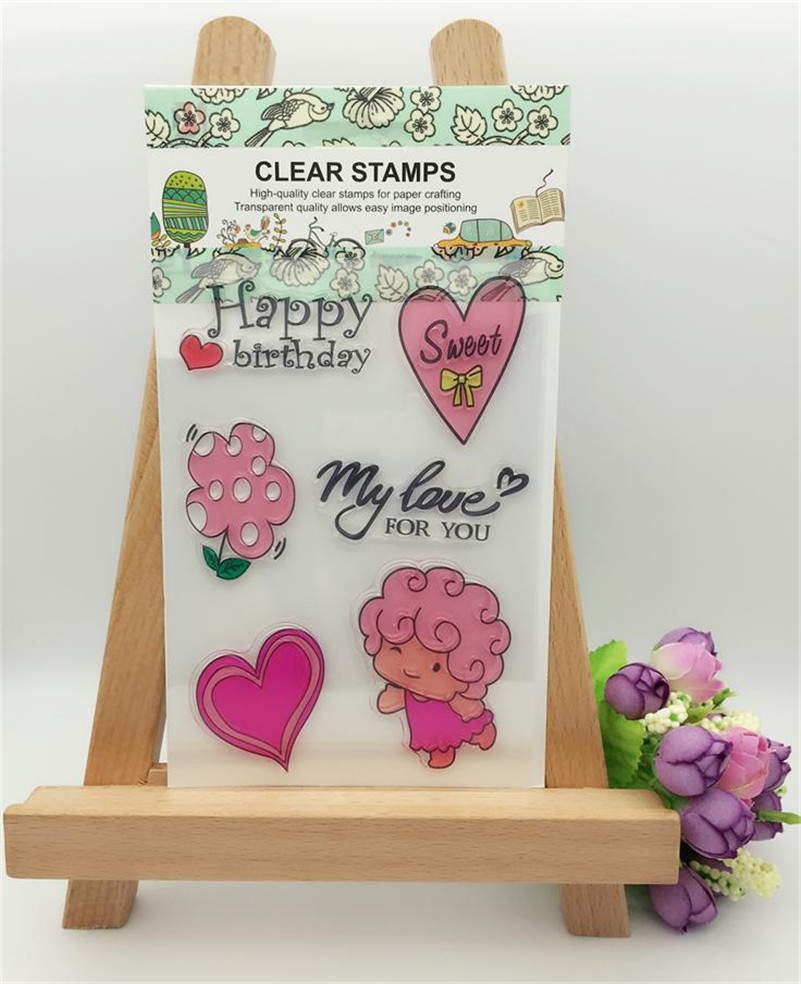 happy birthday my love for you Clear Rubber Stamp Seal Paper Craft Photo Album Scrapbooking for wedding gift LL-79