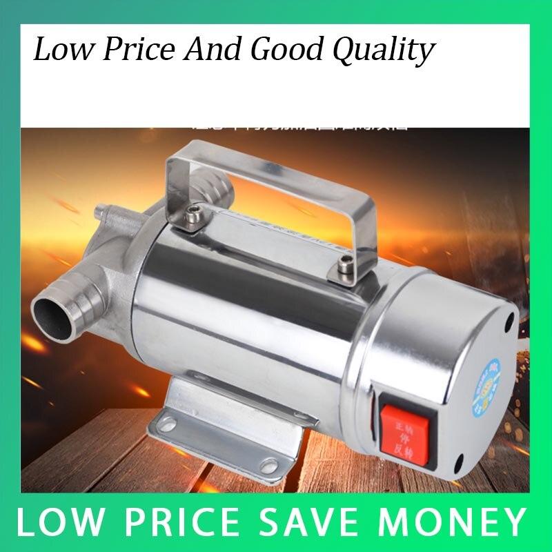 12 V/24 v acier inoxydable pompe de transfert d'huile 70L/min Carburant pompe à huile