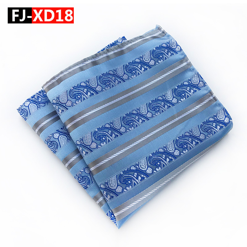 New Creative Men's 100% Silk Handkerchief  Man Paisley Stripe  Jacquard Pocket Square 25*25cm For Normal Business Wedding Party