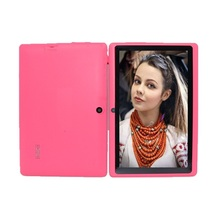 Buy online Tablet 7 inch tablet Allwinner A33 tablet pc Quad Core Q88 Android 4.4 512MB/4GB 1024*600 2300mAh wifi flashlight free shipping
