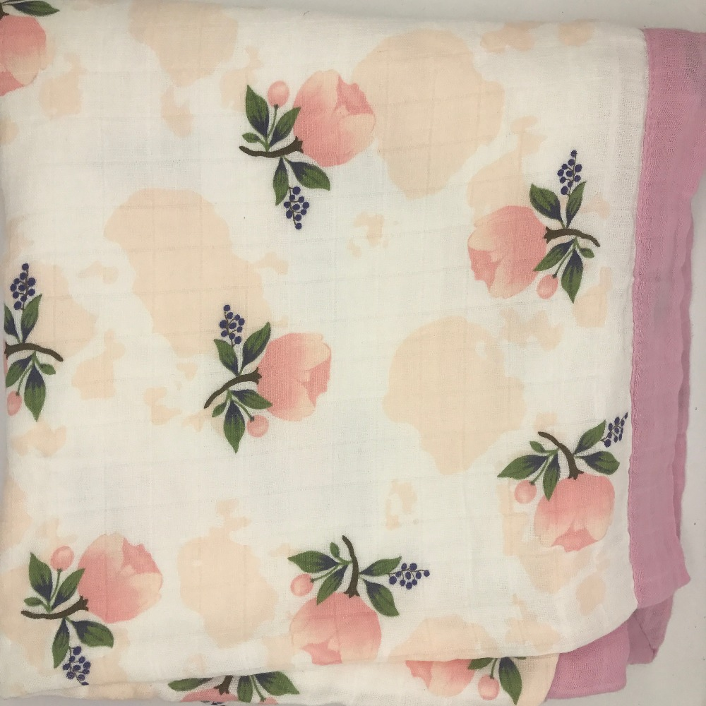 ins hotfour layer bamboo baby muslin blanket  Muslin Tree swaddle better than Aden Anais Baby/bamboo Blanket Infant Wrap