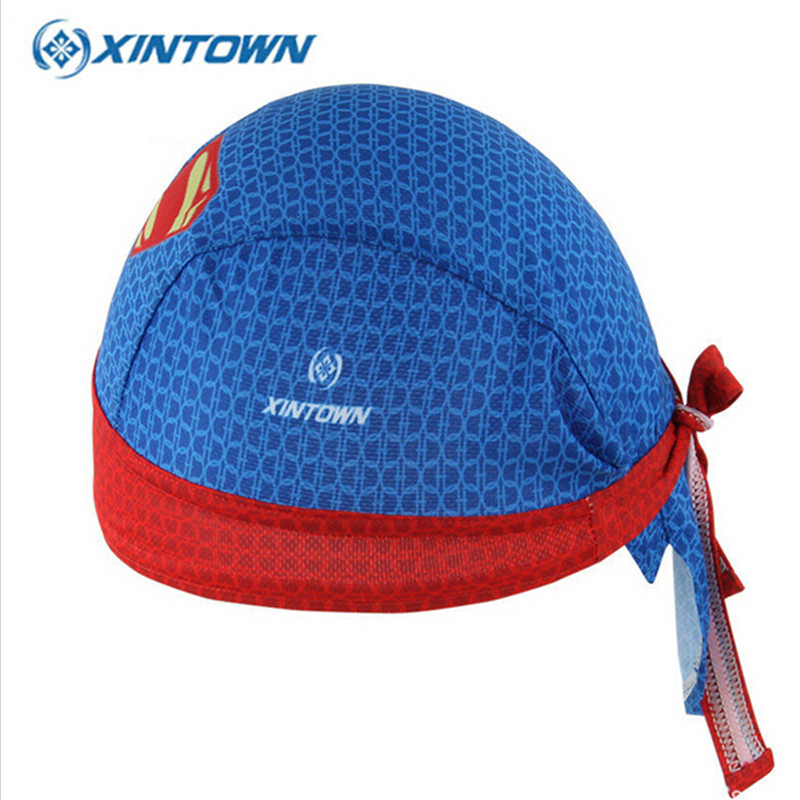XINTWON Superman Drying Ciclismo Bike Scarf Cycling Cap Bandana Caps Headscarf Headband Men Racing Bicycle Hat