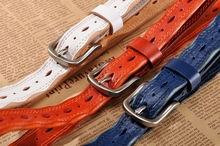 New 100% Genuine Leather Pin Buckle Belt For Women