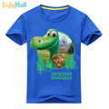 2017 Summer New 24M-6T Cartoon Dinosaur Print T-Shirts For Boy Girls Children's Short Sleeve Tee Tops Cotton Kids Costume CLB065