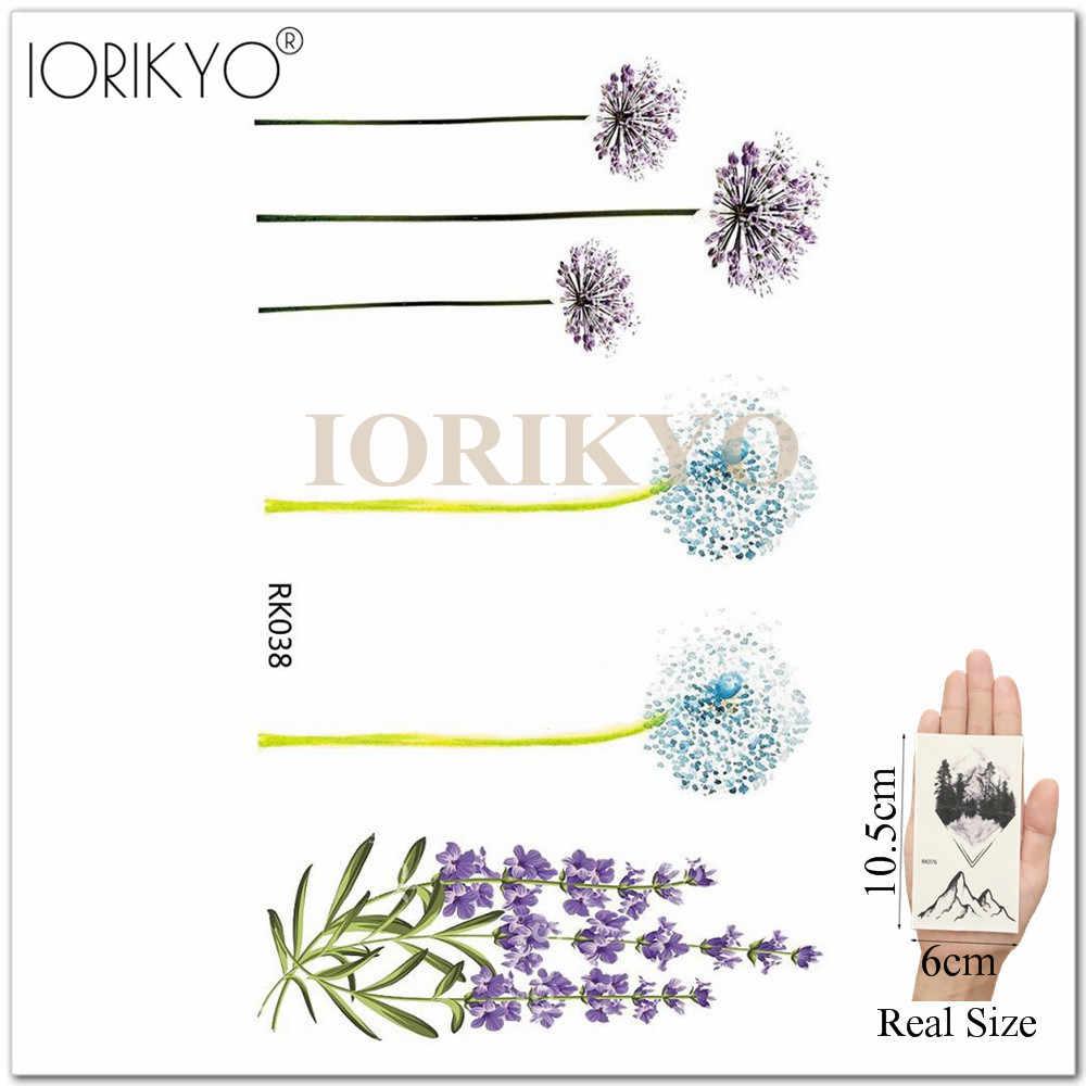 Iorikyo акварель цветок временная татуировка женщины рука цветок лотос вода