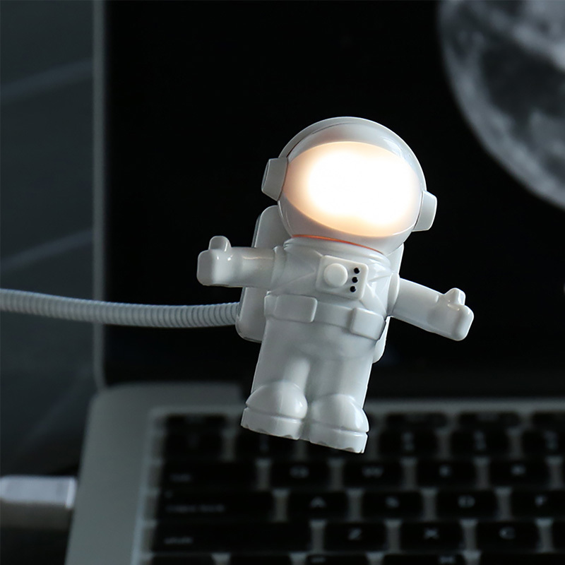 Spaceman LED USB Light Flexible Read Table Lamp Reading Light Astronaut Desk Lamp for Notebook PC Computer Tablet Laptop цена