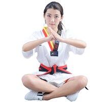 2018 groothandel katoen ademend junior Taekwondo Dobok kind meisjes en jongens WTF goedkeuren Karate uniform pak training kleren