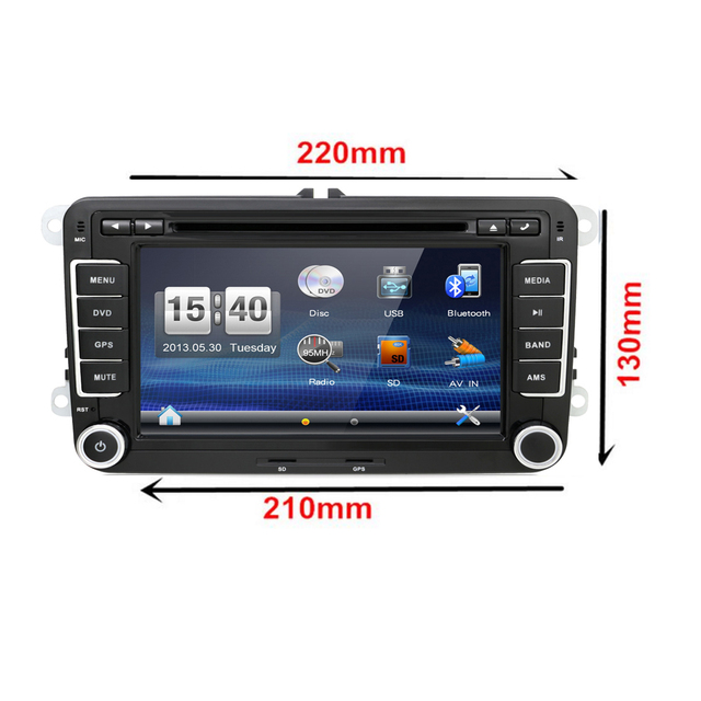 8 Car DVD play GPS Navi Stereo Radio VW GOLF TOURAN POLO Passat+DVB T MPEG 4