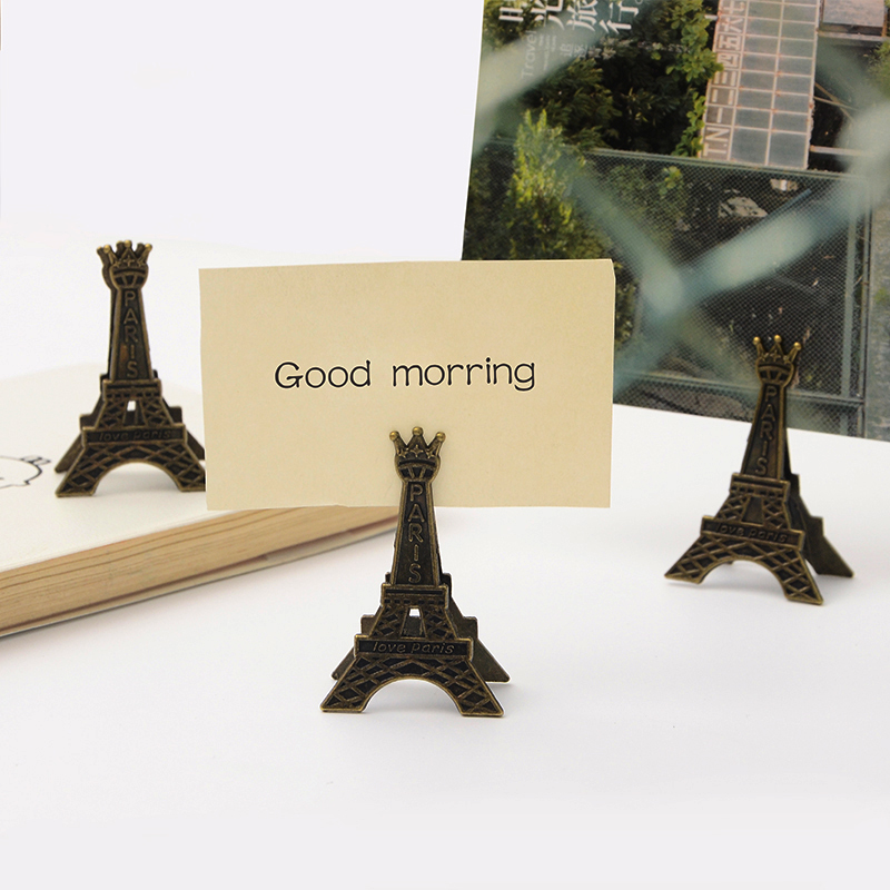 Cretive Effiel Tower Paris Metal Memo Paper Clips For Photo Paper Decoration School Office Supplies Gift Stationery