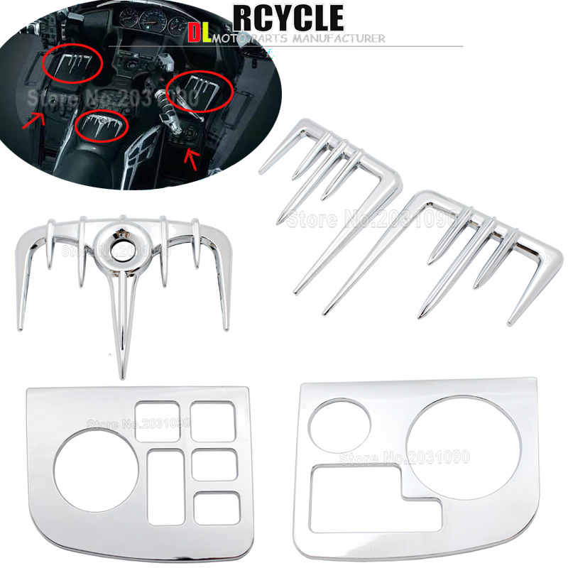 1Set Chrome Motorcycle Decorative cover for Honda Goldwing GL1800 Gold Wing ABS 2001 2010