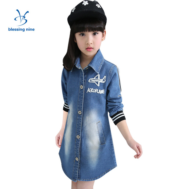 Aliexpress.com : Buy Girls Coat Autumn Outerwear Cowboy Girl ...
