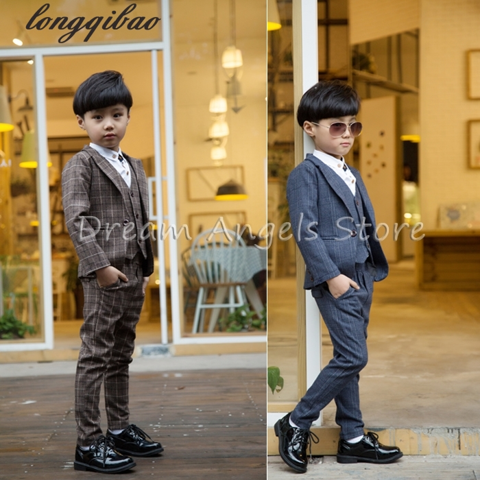 Retro gentleman style custom made Boy's suits tailor suit Blazer suits for boy 3 piece (Jacket+Pants+Vest)The suits multi function casual wear resisting nylon 35l computer bag large capacity travel bag school backpacks t0211