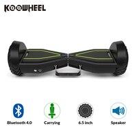 2018 Koowheel K8 dos ruedas Bluetooth Hoverboard Scooter eléctrico inteligente con mango extraíble raya Hoverboard barato para la venta
