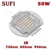 High Power LED Chip IR Infrared 730Nm 850nm 940nm 50W Emitter Light Lamp Beads 730 850 940 nm Light Bead For Night Vision Camera