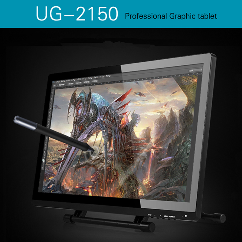 UGEE UG-2150 Graphic Drawing Tablet 1920x1080 HD Display 21.5 IPS Monitor+Screen Protector for Ugee&Huion GT-220 Free Shipping huion p608n usb 26 function keys graphic tablet black