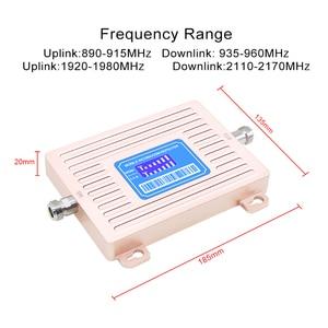 Image 2 - Écran LCD GSM 900 UMTS 2100 mhz répéteur double bande GSM 2G 3G LTE amplificateur de téléphone cellulaire amplificateur Mobile + antenne LPDA/plafond