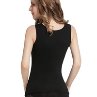 Simple Design Body Shaping Fashion Women Sleeveless Tank With Bra Cup Tops Underwear Vest Slim Sexy