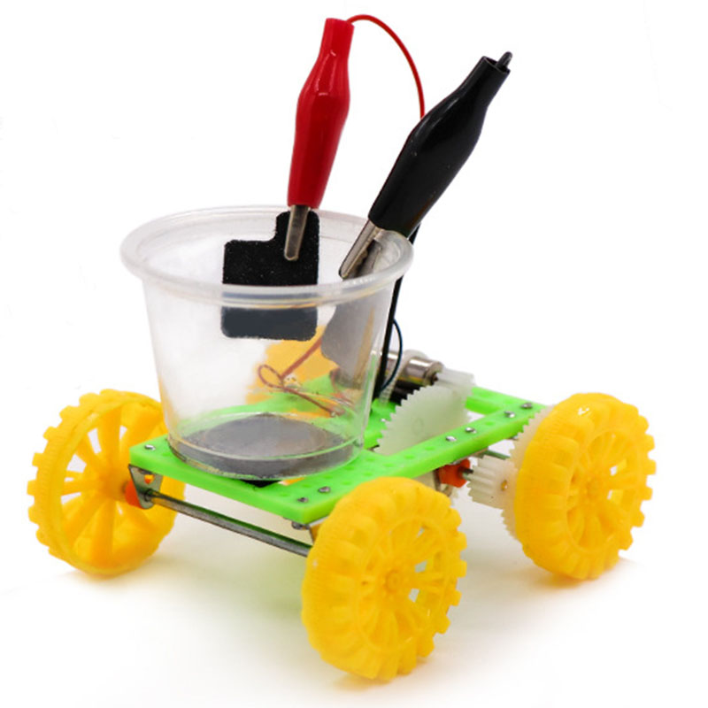 DIY Science Gizmo Physics Experiment Saltwater Power Car Kids Handmade Puzzle Assembled Toys Physics Teaching Resources