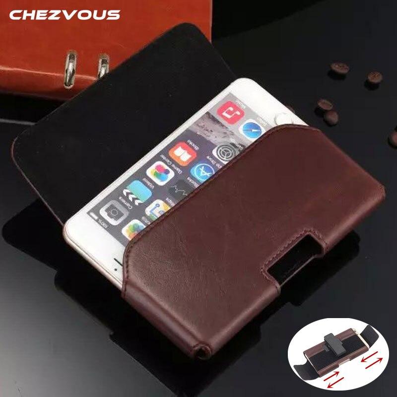 Universal Pochette de Téléphone En Cuir pour Samsung Galaxy S8 S7 Bord S6 S6 bord S5 Cas Réglable Ceinture Clip Téléphone Sac pour IPhone6 7 Plus