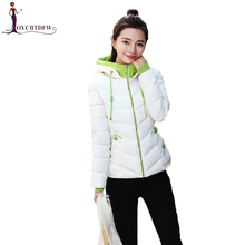 2018 Jacket Women Winter Warm Down Cotton Coat Padded Short Parkas Feminino New Autumn Fashion Bomber Hooded Outwear Tops NO416 цены