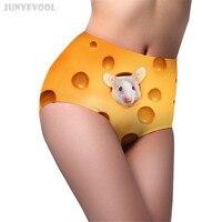 Short Feminino Fitness Underwear Cute Cheese Mouse Briefs Women's Sexy High Waist Body Shapewear Panty 3D Animal Panties Pants