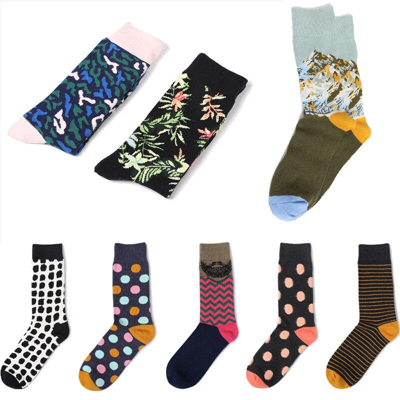 flower plantlife art   socks   graphic mountain men women cute dot cotton long   socks   novelty striped skateboard   socks   wholesale