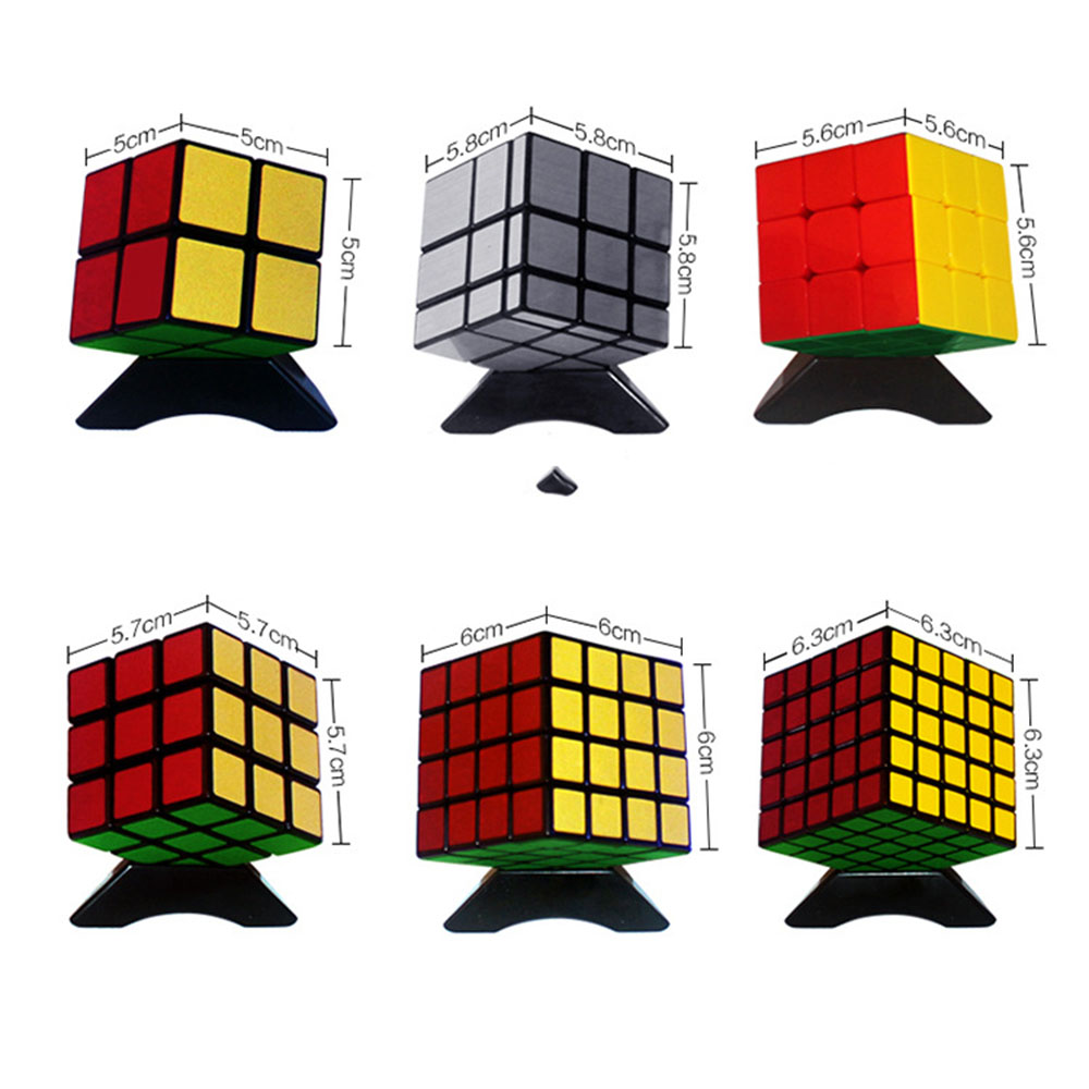 6Pcs Sheng Shou Magic Cubes Set 2x2x2 3x3x3 Puzzle Speed Rubiks Cube Educational Toys Gifts for Kids Children