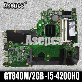 Asepcs X750JB GT840M/2GB -I5-4200HQ Motherboard For ASUS X750J k750J A750J X750JN X750JB Notebook notebook motherboard mainboard