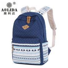 2019 Girls New Fashion Backpack Adolescent China Style Schoolbag Ms. Canvas Large-capacity Multifunctional
