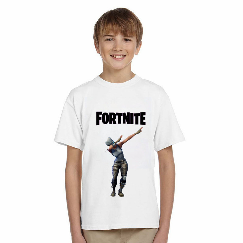 LYTLM Funny T Shirts Dabbing Fortnite T Shirt Kids Summer Toddler Boys Clothing Kids Boys Game T-shirt Girl Cool Teenage Clothes