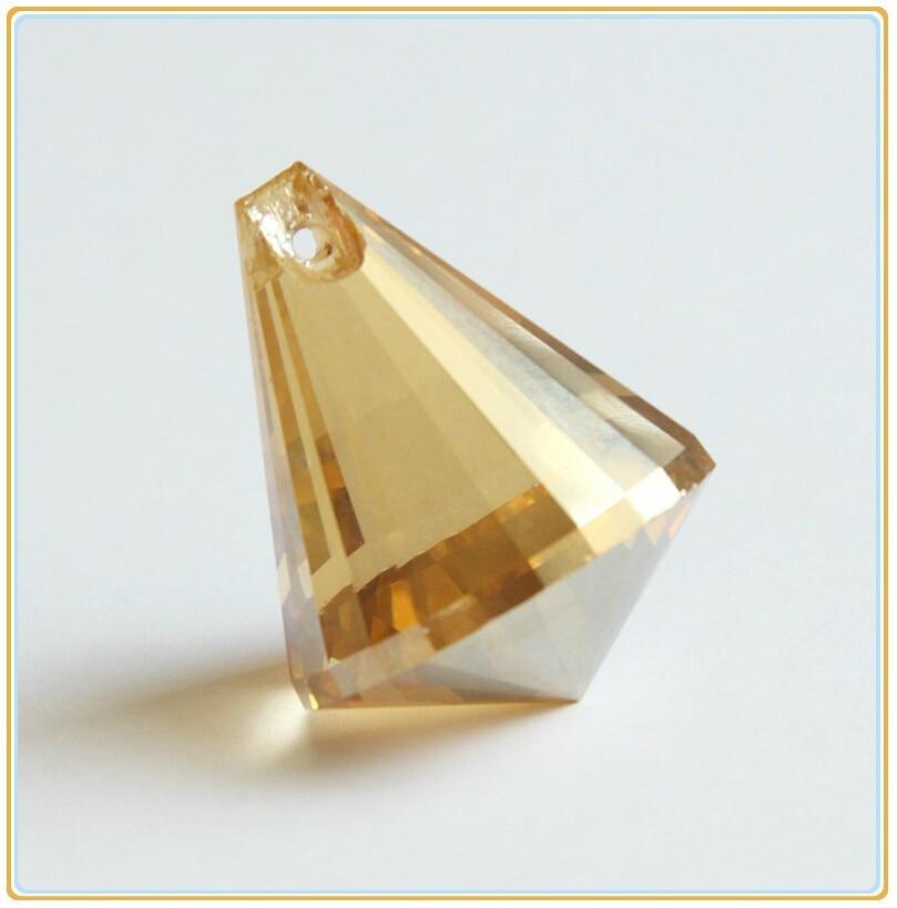 Hot ! cognac 10pcs/lot 30mm Chandelier Crystal Prisms Glass Lighting Pendants Parts Strand Garland Decoration