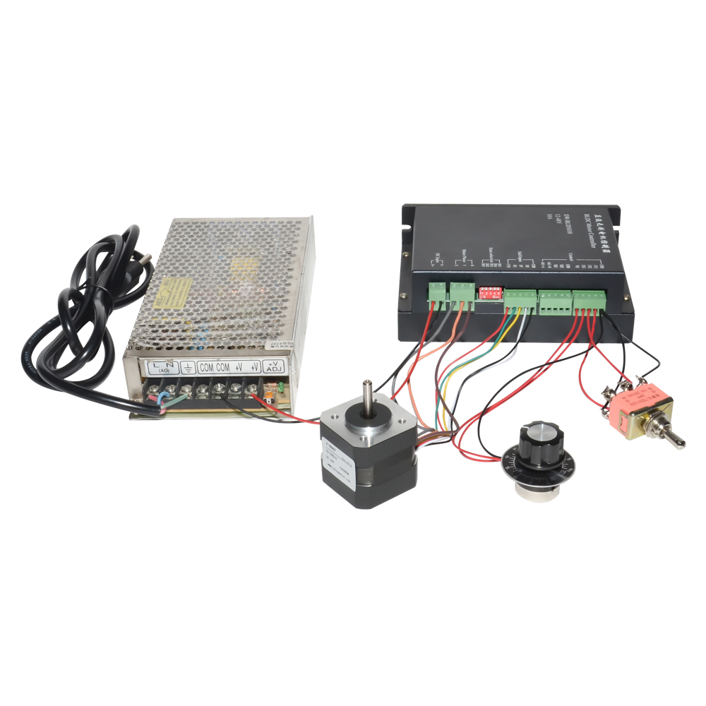 BLDC DC Motor Set 24V 3600rpm 4000rpm 5000rpm 3 Phase + Speed Controller+Limit Switch+CW/CCW/Stop Switch+Power Supply limit switch with wheel door stop switch