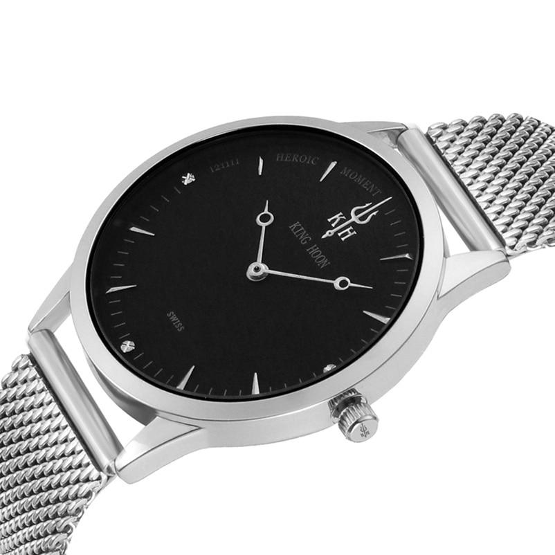 KING HOON นาฬิกาข้อมือ Busiiness นาฬิกาข้อมือหรูแบรนด์ชั้นนำที่มีชื่อเสียงชายนาฬิกานาฬิกาควอทซ์สำหรับผู้ชาย Hodinky Relógio Masculino