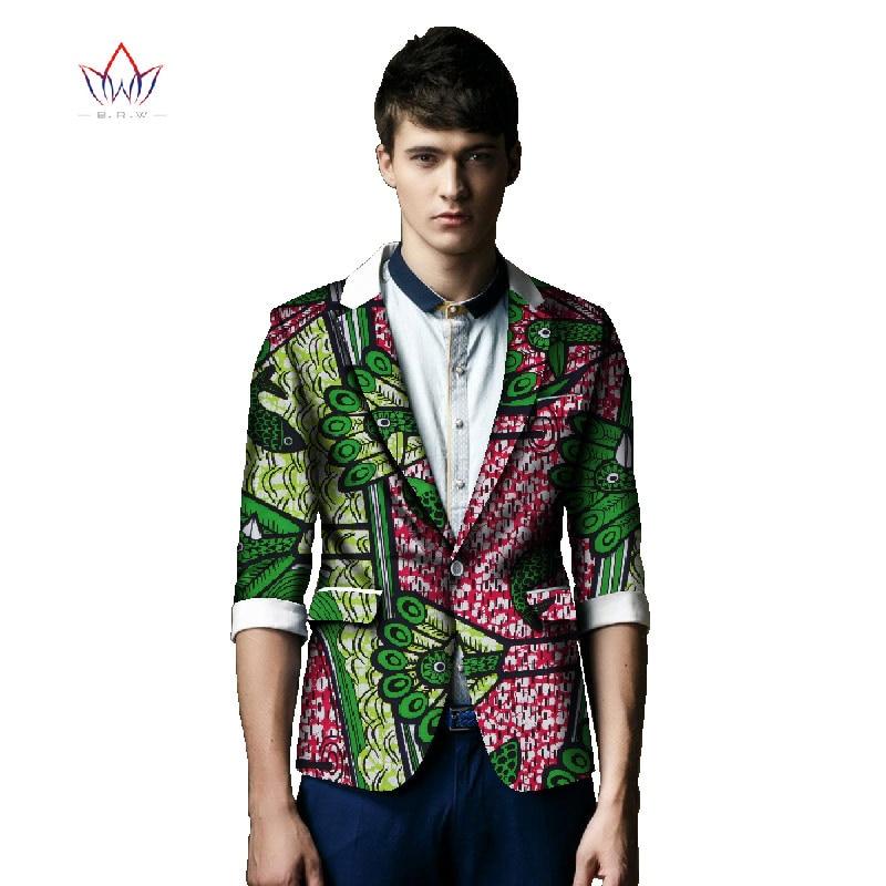 African Print Klær Bazin Riche Elegant Blazer Menn Suit Jakke Casual - Nasjonale klær - Bilde 4