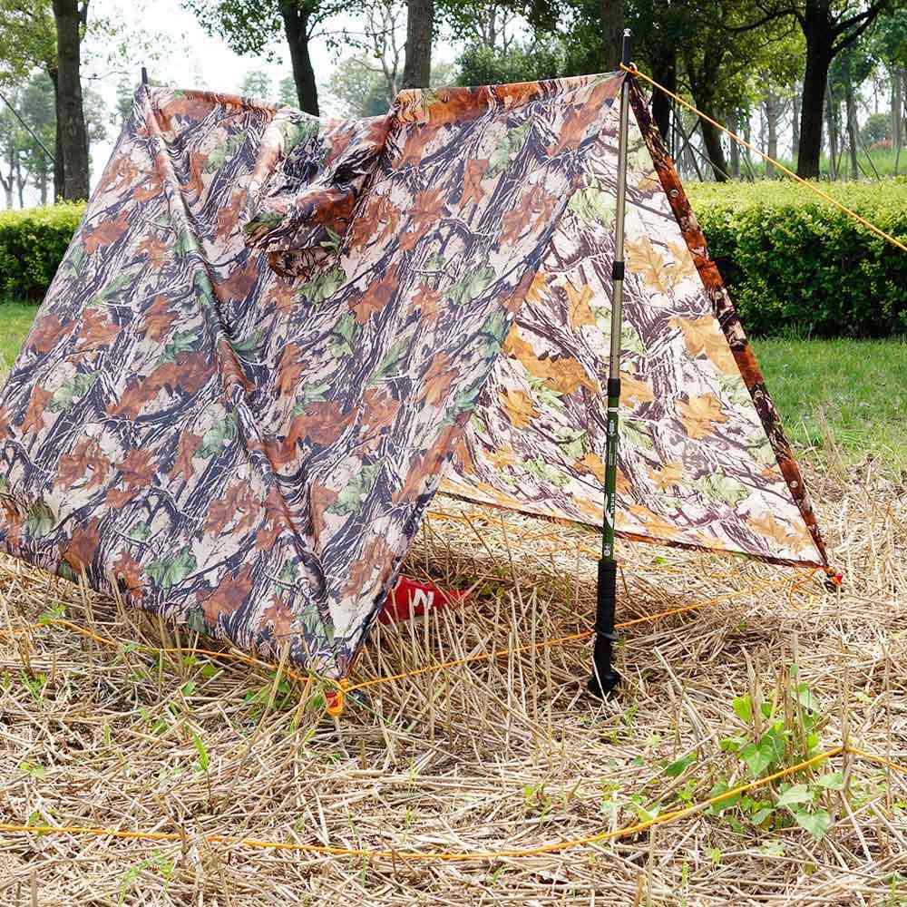 Sol Abrigo 3 em 1 Multifuncional Outdoor Militar Camuflagem Capa De Chuva Poncho Capa de Chuva Mochila de Viagem À Prova D' Água Mat Tenda