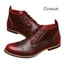 Ovxuan/вечерние и свадебные туфли из натуральной кожи для свиданий; итальянские классические туфли; мужские повседневные деловые оксфорды; Му...