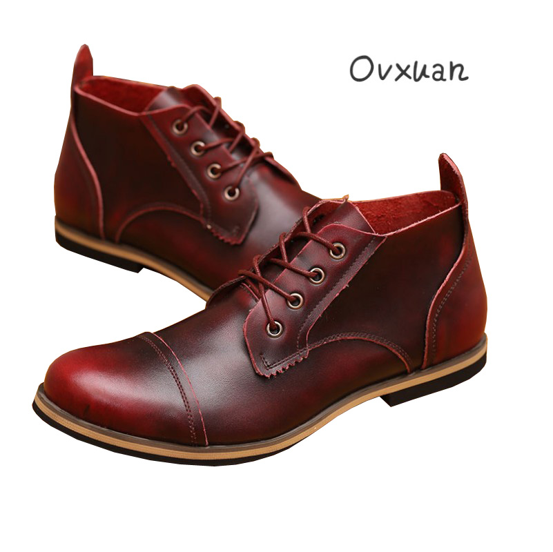 Ovxuan Genuine Leather Dating Party and Wedding Formal Dress Shoes Italian Men Casual Business Oxfords Male Shoes 2017