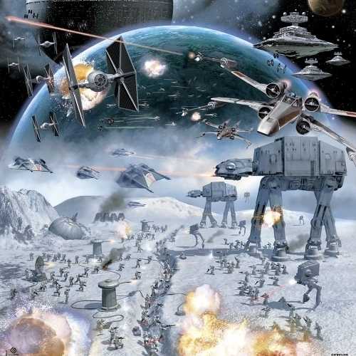Star Wars Hoth Laminated Poster (24 x 36)