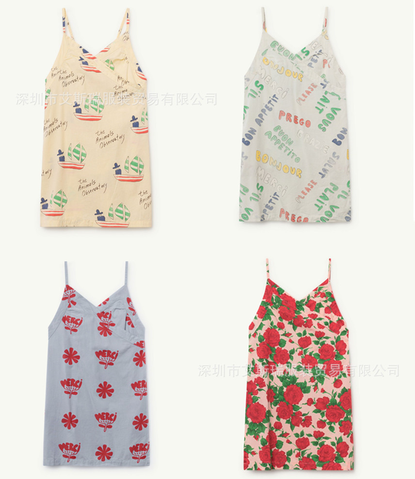 2019 Spring and Summer New Ins Hot Tao Brand Same Series Girl Baby Cotton Sling Print Girl Dress2019 Spring and Summer New Ins Hot Tao Brand Same Series Girl Baby Cotton Sling Print Girl Dress