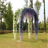 1Set x Artificial Violet Hanging Vine Flower Plant Home Garden Wall Decoration For Wedding