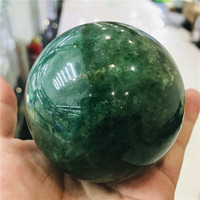 DHMSZB 50 70mm Natural green ghost garden crystal stone stone quartz mineral ball earth ball chakra reiki healing