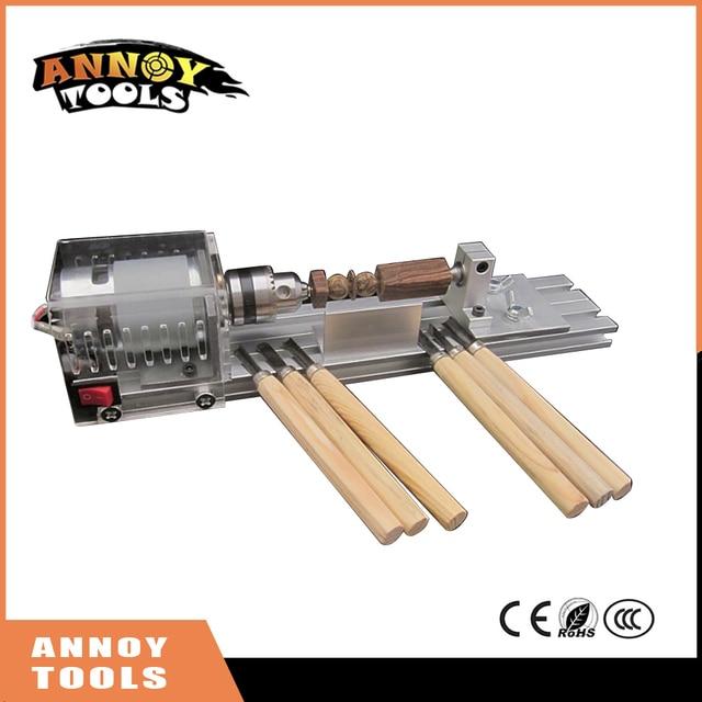 Mini Diy Wood Lathe Machine Diy Woodworking Lathe Polishing Cutting