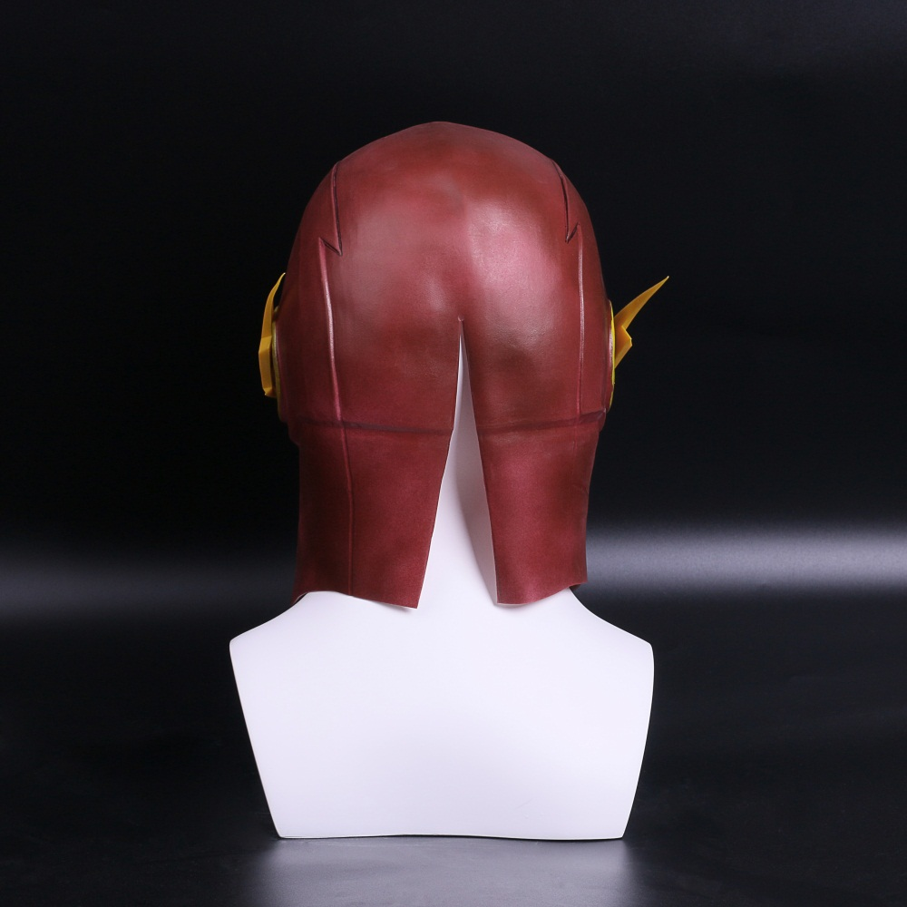 The Flash Mask DC Barry Allen Mask Cosplay Costume Prop Halloween Full Head Latex Party Masks (5)