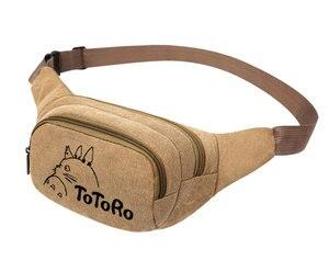 Image 4 - My Neighbor Totoro Anime  Canvas Waist Pack Bag Pouch Belt Travel Hip Casual Fanny Bag Money Phone Belt Bag